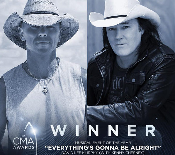 "David Lee Murphy & Kenny Chesney Win Musical Event of the Year for ""Everything's Gonna Be Alright"""